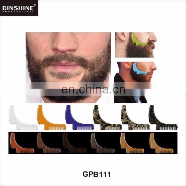 2017 best selling and customized color beard shaping comb
