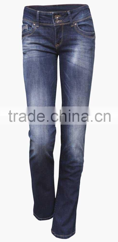 Adults new lastest high quality women dirty wash skinny jeans ladies vintage wash strech jeans manufacturer
