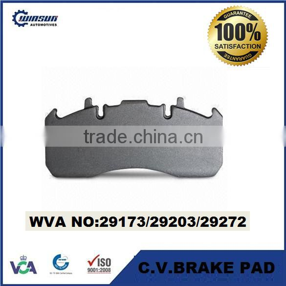 29173 29203 29272 Commercial Vehicle brake pad for VOLVO TRUCK