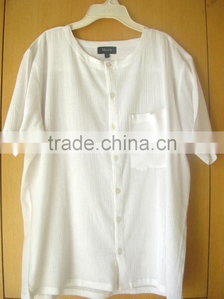 Band Collar men shirt