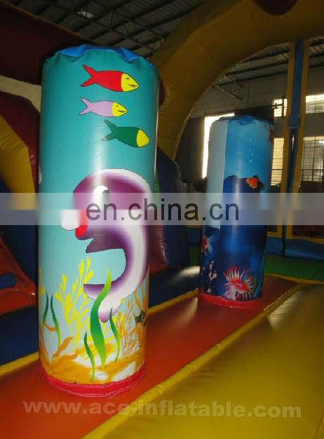 Hot Sale Ocean Theme inflatable bounce slide combo