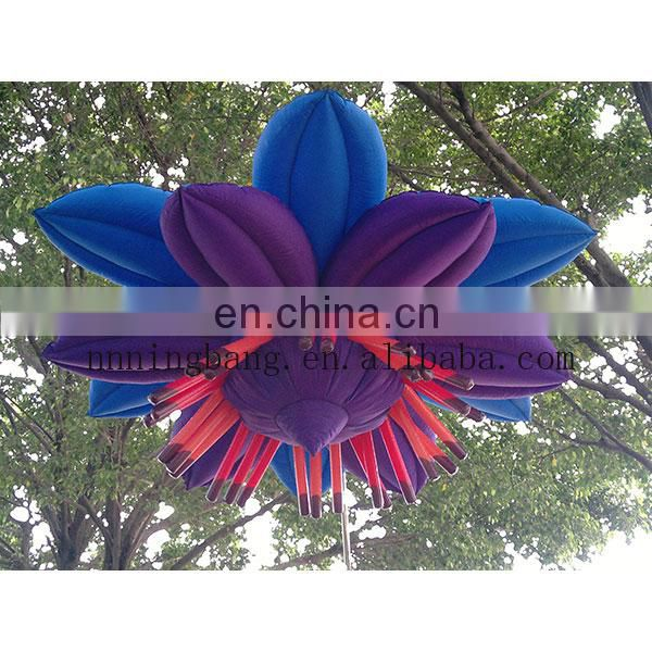 2017 hot fatory wholesale good price giant inflatable flower decoration for stage in weeding and party