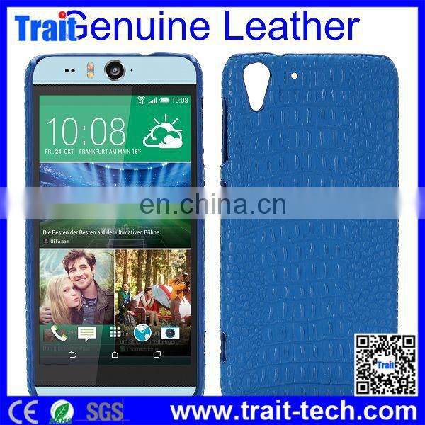 High Quality PC Genuine Leather Hard Back Cover Case for HTC Desire Eye