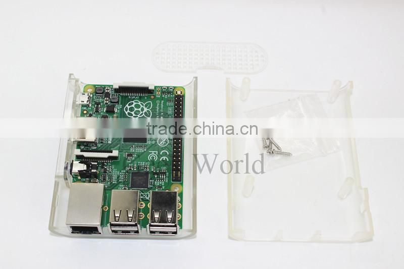 NEW! Raspberry Pi B & Raspberry Pi 2 Case Clear Cover Shell Enclosure Box ABS Box With 3Pcs Heat Sinks (PI Not Included) B303