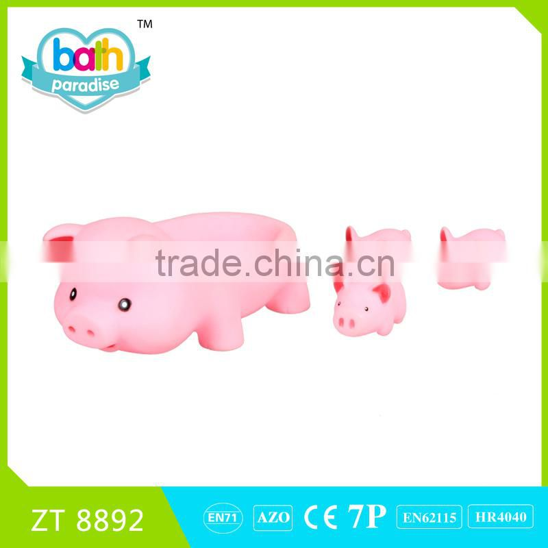 2016New !Eco-friendly PVC duck+pig+cow+ladybird+florg+bathtub baby bath learning toys MZT8965