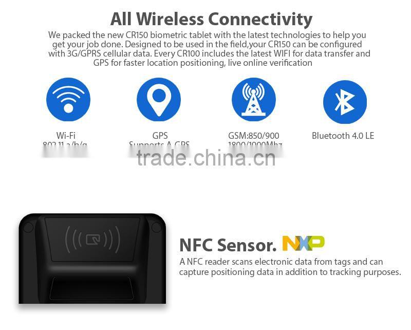 Android WIFI 3G NFC FBI PIV biometric morpho fingerprint