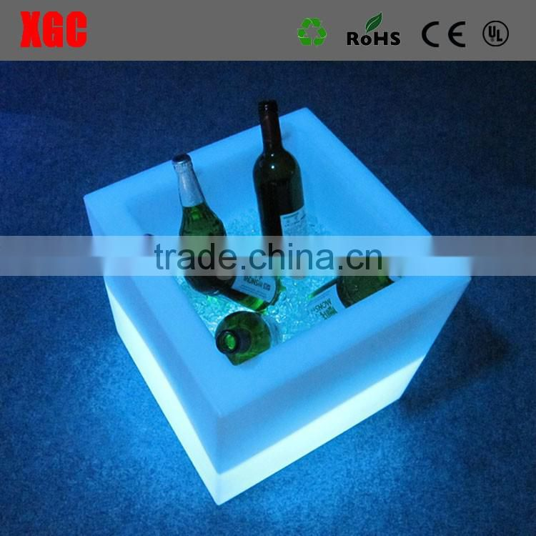 plastic led light ice bucket for nightclub bar/hotel/wineshop/winehouse,ISO Factory Products
