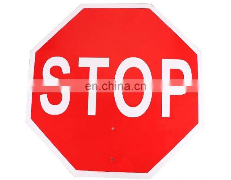 High reflective Stop warning sign