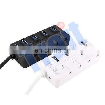 30CM 5 Gbps 4 Port USB3.0 HUB For Charging and Data Sync with LED Indicator