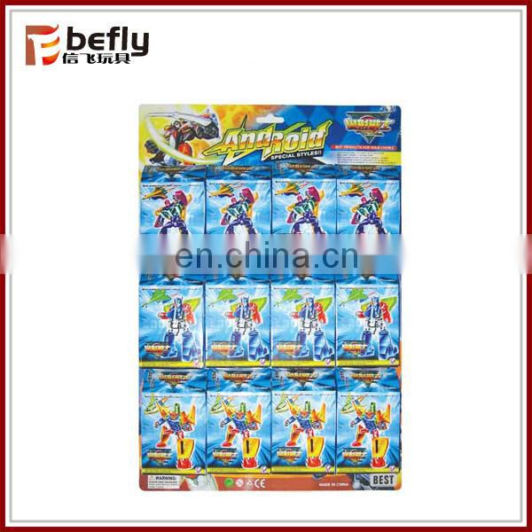 Boys small plastic robot figure toys