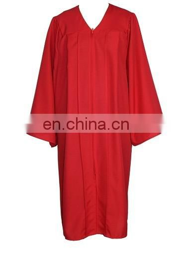 Red Good quality university graduation gown Wholesale