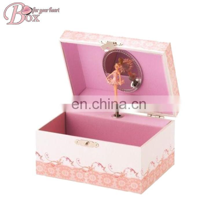 Pink Ballerina Musical Jewelry Box