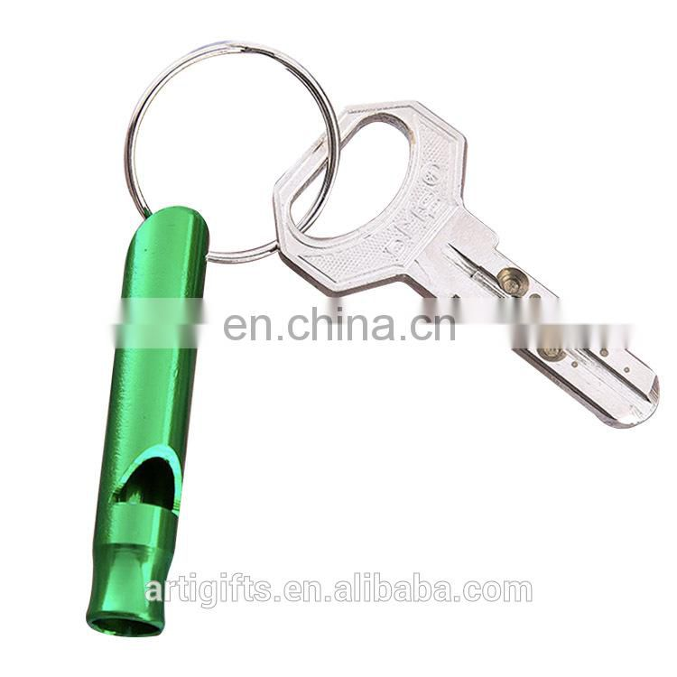 Custom high quality metal finder whistle key chain