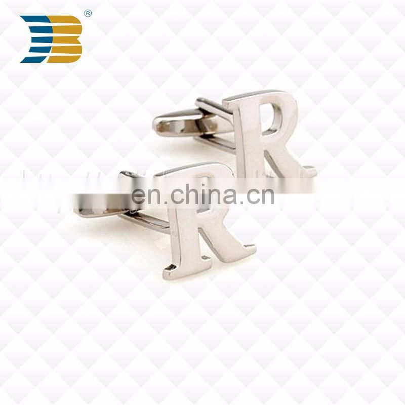 high quality gold plating metal custom cufflink with your logo