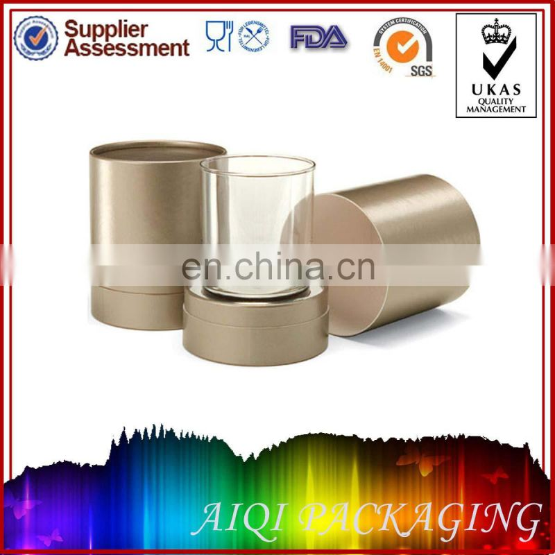 Cylindrical Paper Cardboard Drinking Glass Glassware Packaging Box