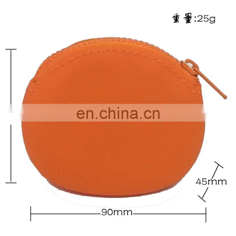Cute Oval Coin Purse Soft Small Pouch Mini Silicone wallet Womens Card Holder Clutch Purses