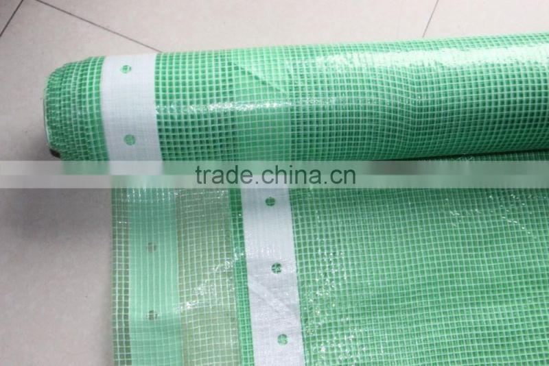 white color clear pe tarpaulin with mesh woven wire tarp for