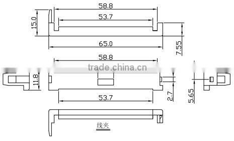 centronic tyco ribbon cable plug 50 way solder connector male type with wire  clamp
