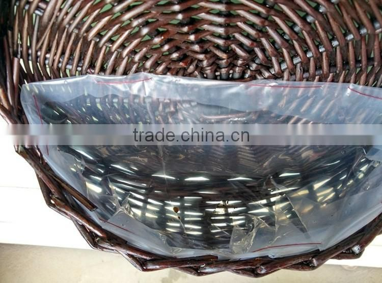 Hand woven decorative hanging wicker wall basket for plant