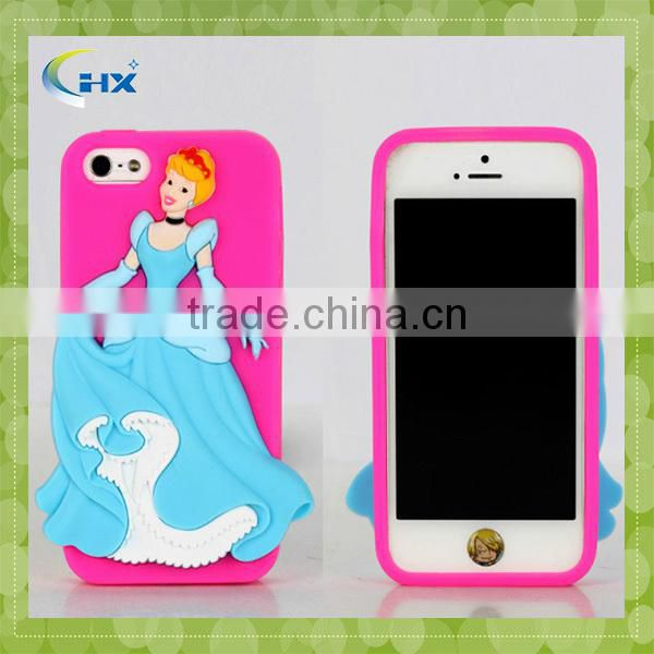 Wholesale 3D silicone cellphone case for iphone 5/5c/5s/6/6Plus