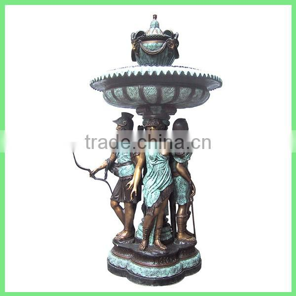 antique bronze water fountain with lady statues sale
