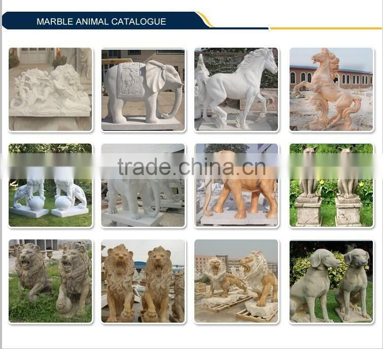 Western White Marble Carving Stone Lion