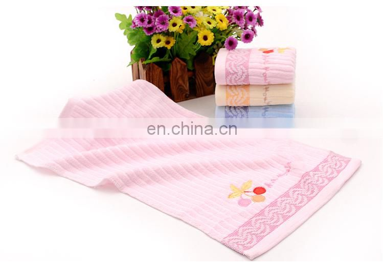 100% cotton cherry face towels for kids and children