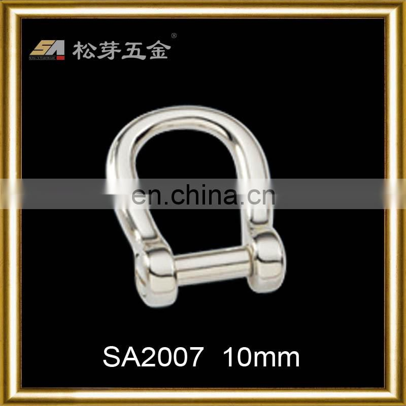 dongguan hardware accessories-high quality zinc alloy polished d ring buckle
