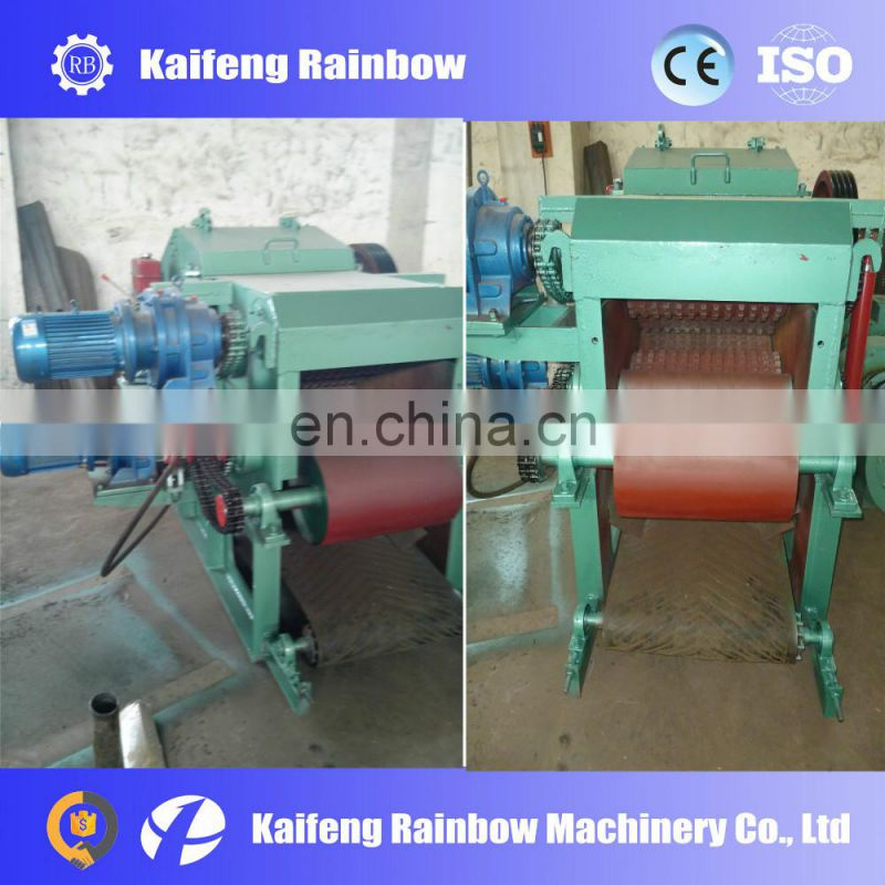 Blade automatic control log core crusher with hammer