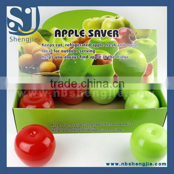 Trade assurance Plastic Fresh Storage Box, Apple Saver/ Apple shape collapsible storage box
