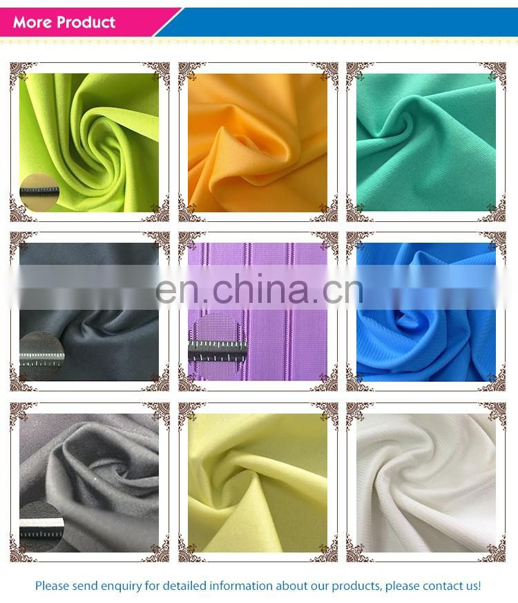 wholesale 88 nylon 12 spandex thick Suplex tricot green stretch fabrics