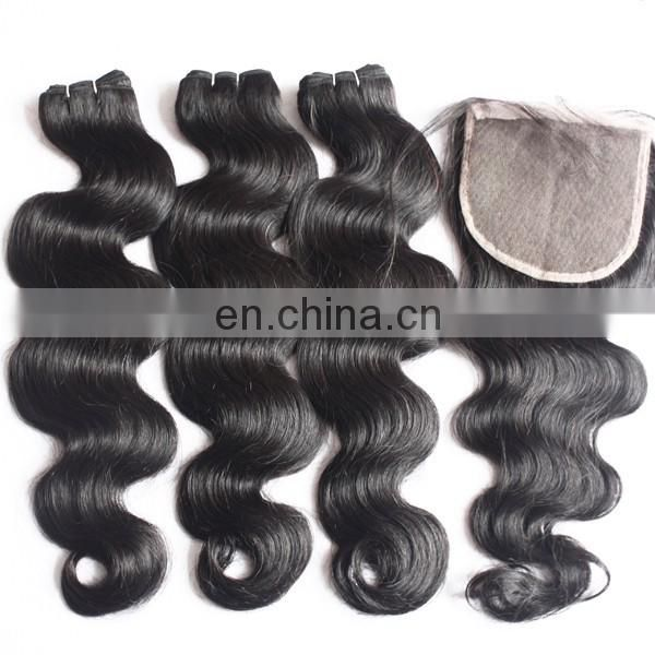 Fashion on sale body wave virgin brazilian hair with closure raw unprocessed aliexpress brazilian human hair extension