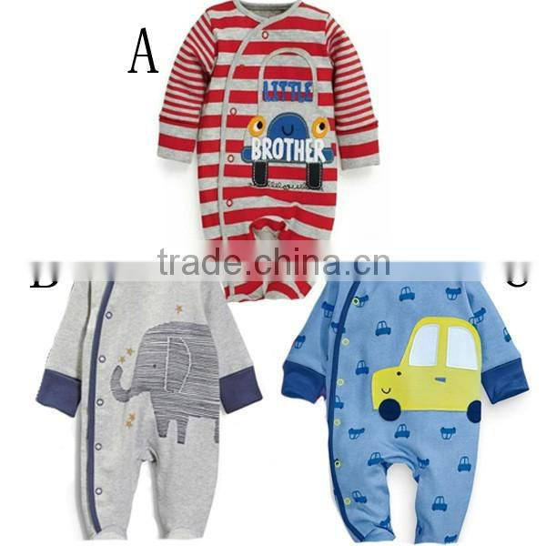 Boy winter romper Cartoon cotton Long sleeve Cars and animal patterns infant jumpsuit baby clothing