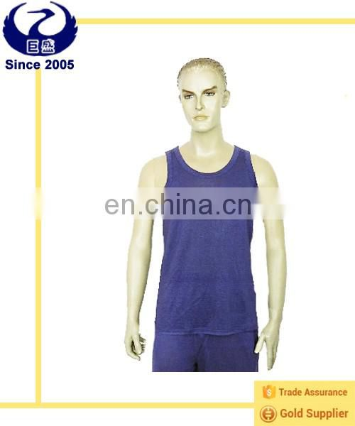 New men's summer breathable tank tops made of hemp and silk