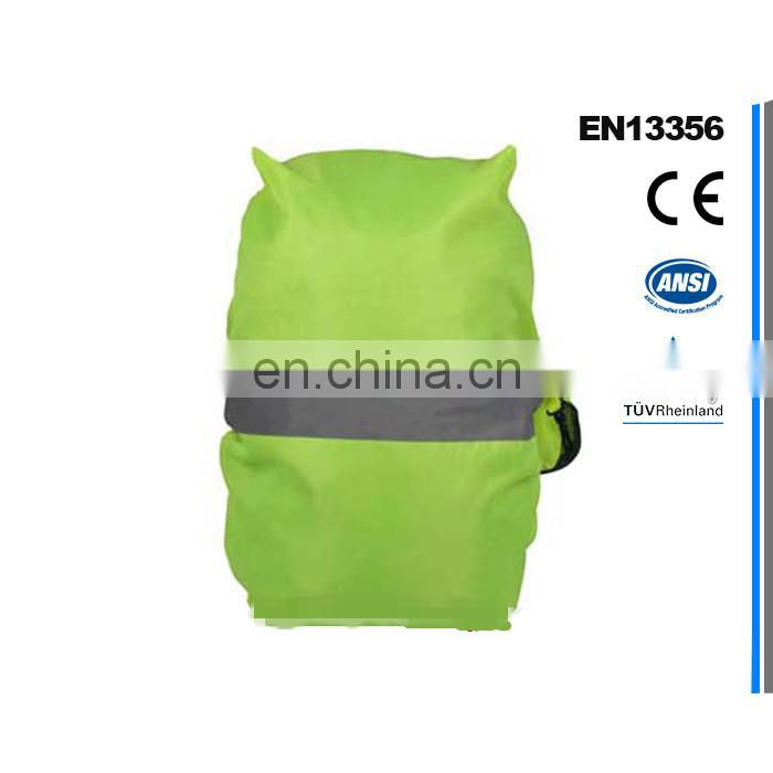 China Fluorescent Yellow School Reflective Safety Backpack