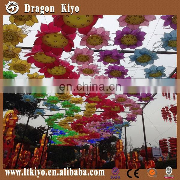 colorful lantern decoration in city for show