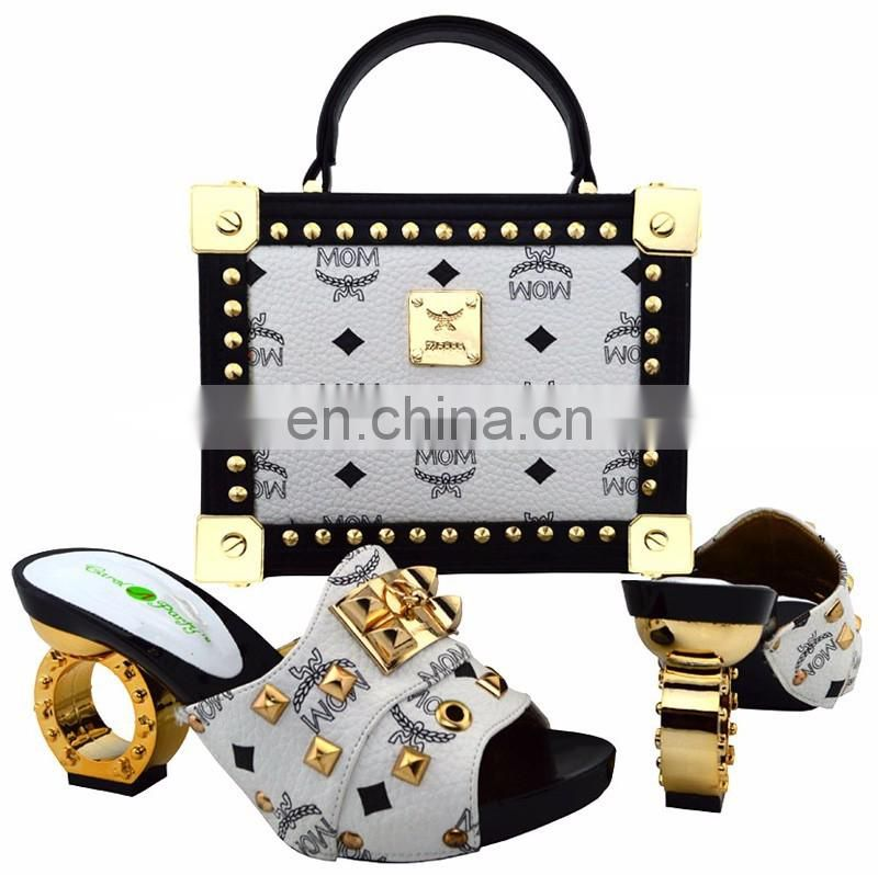 e4606acb12 ... Latest Wholesale High Quality African Nigeria Party Shoes And Matching  Bag Set ...