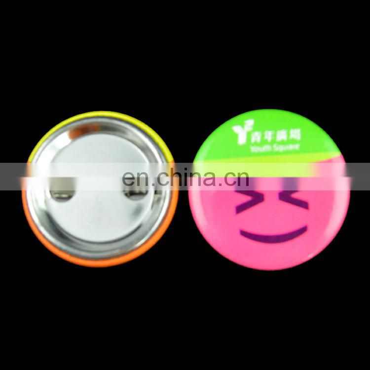 Smiley angela decorative button badge 58mm