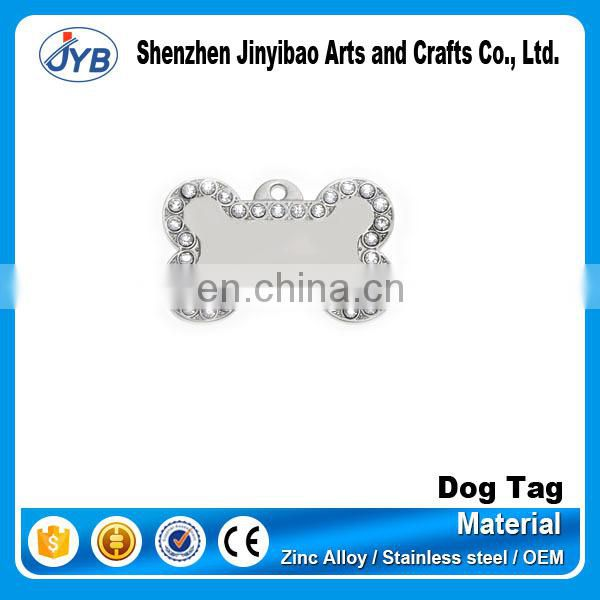 hot sale metal custom bone shape dog tag