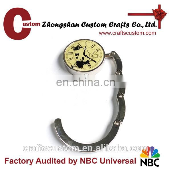 wholesale Yiwu bulk Clock around metal bag hanger gift