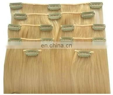 6A grade China aliexpress clip in hair extension for white women