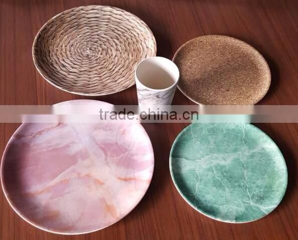 Hot-sell Eco Bamboo Fiber Plate with Print