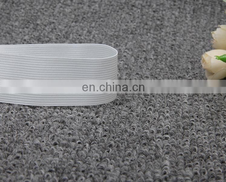 factory supply white and black color knit elastic band