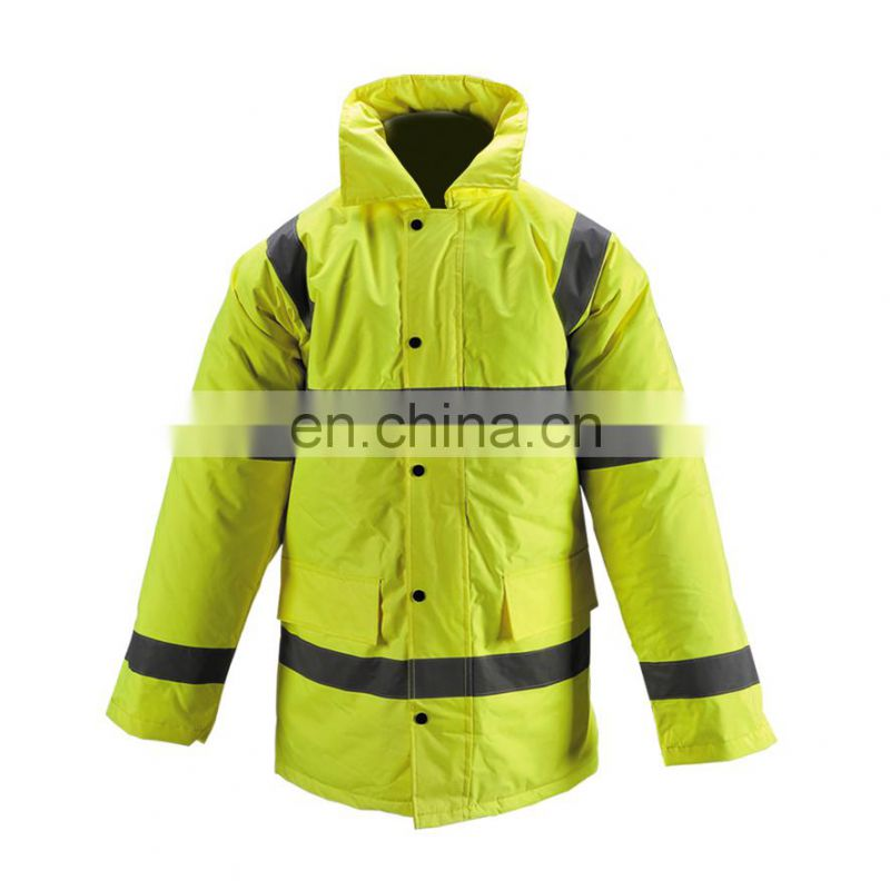 Yellow Hi-Vis Safety Motolcycle Reflective Jacket