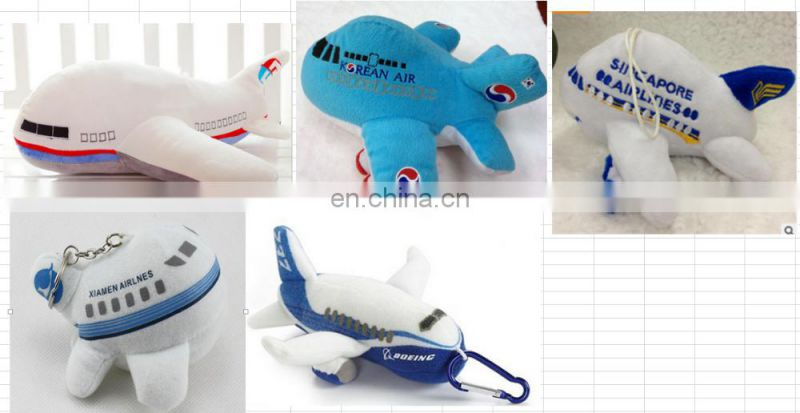 3D kids stuffed airplane shaped pillow toys