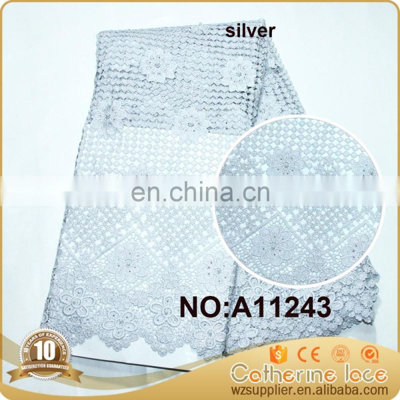 High quality heavy lace fabric african guipure lace fabric