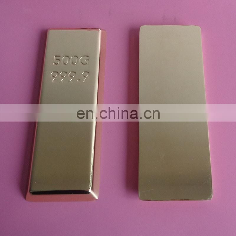 500g 999.9 gold bar metal paper weight
