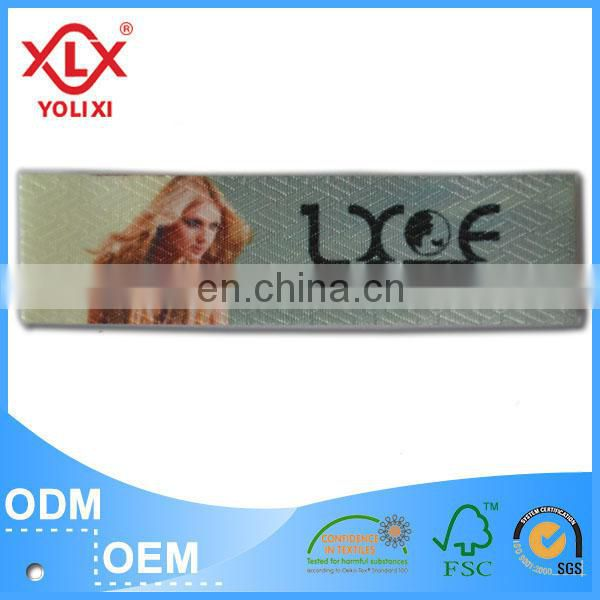2017 Favorable price printed clothing label manufacturer