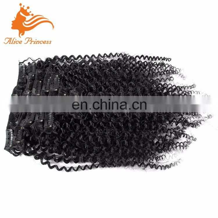 Factory Price Grade 7A Virgin Hair Wholesale Clip In Hair Extension Kinky Curly A Braizlian Hair Products Sale Online