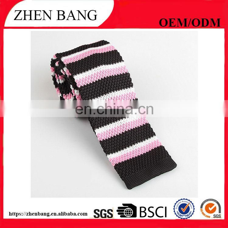 New design custom logo knitted men tie from China